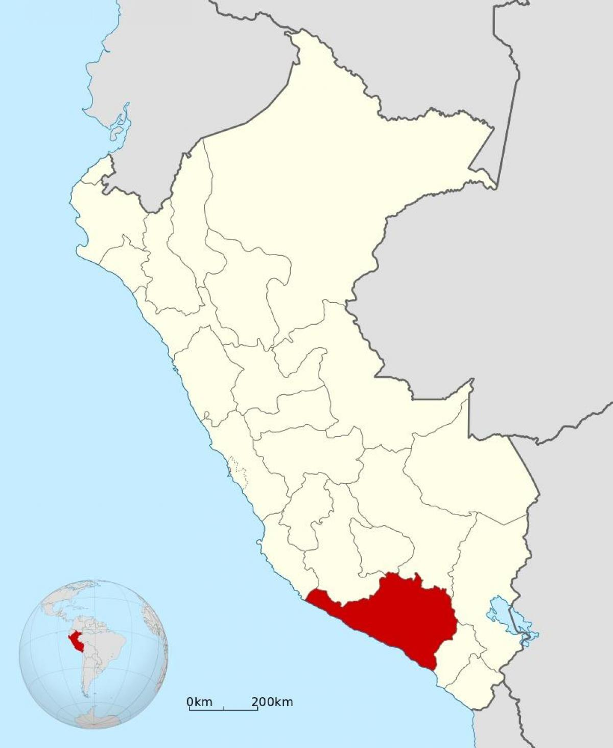 Arequipa Peru Kartta Kartta Arequipa Peru Etela Amerikka